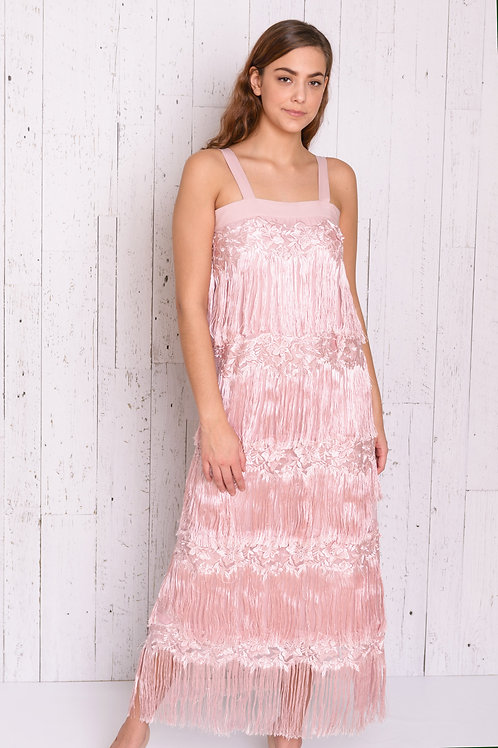 Tiered Long Fringe Dress