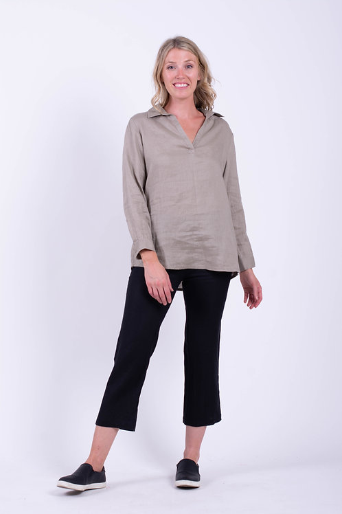 V-Neck Pullover with back buttom Down