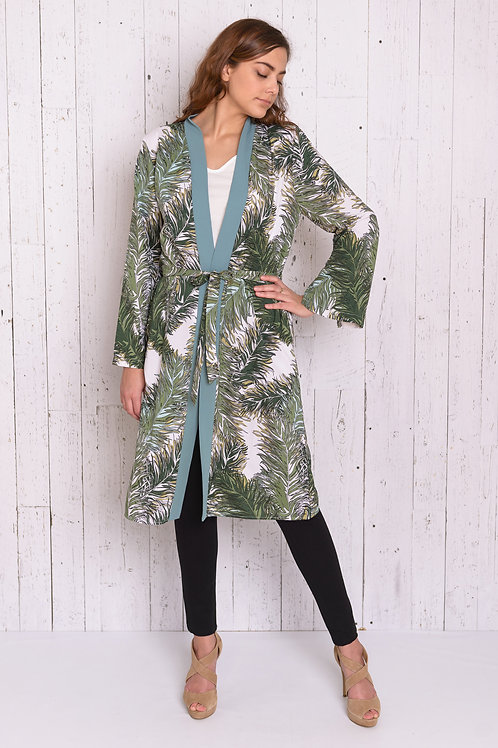 Printed Long Sleeves Kimono