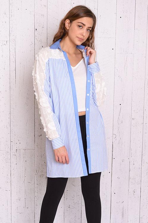 Laced Shirt Coat