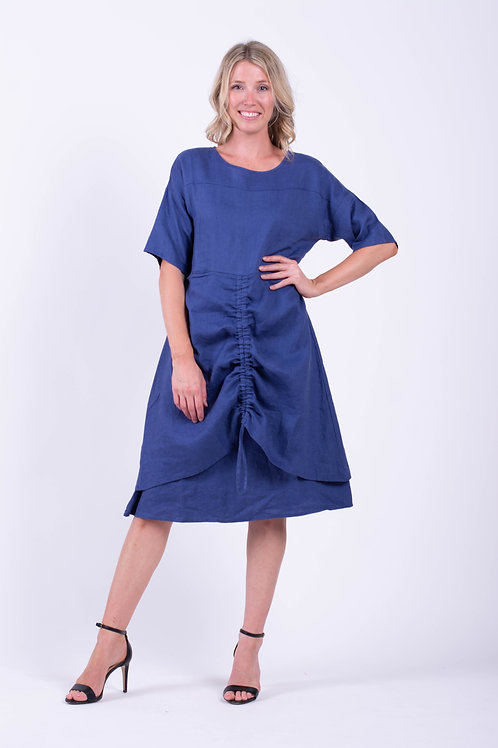 Tie Front Layered Dress