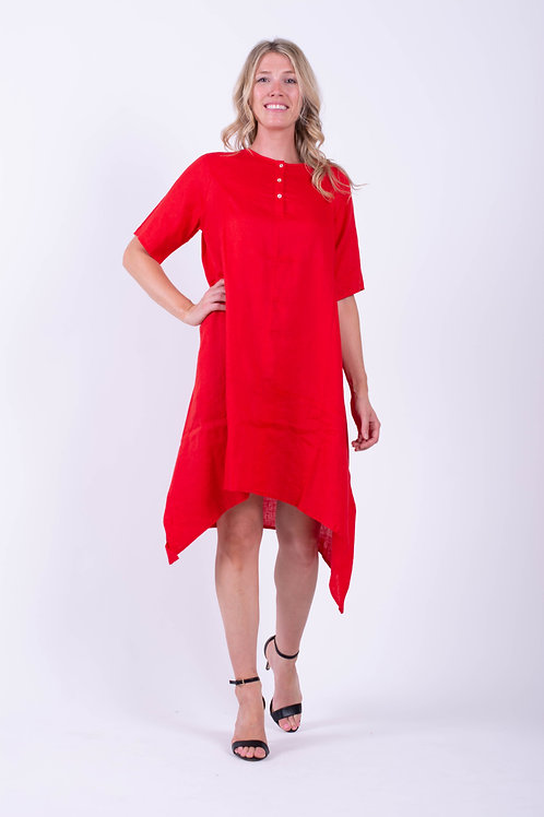 Button Up Dress with Short Sleeves