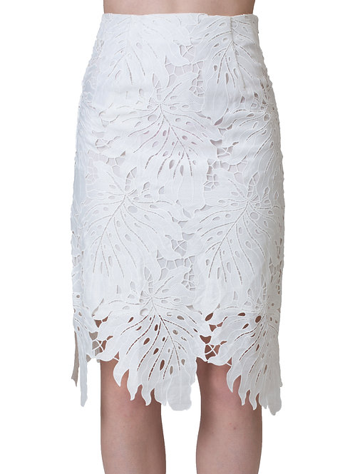 Laced Knee-Length Skirt