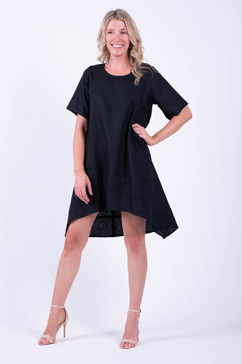 Linen Short Angled Pocket Dress