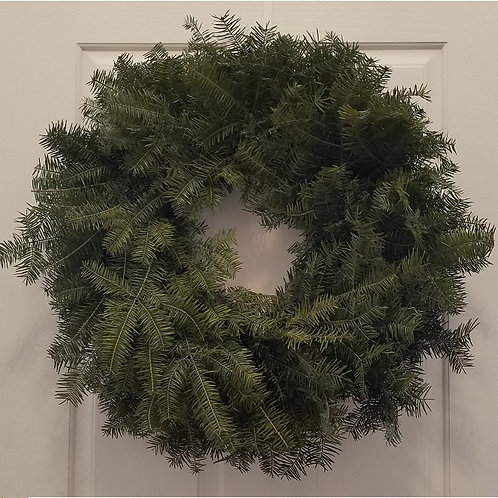 "25"" Plain Fresh Balsam Wreath"