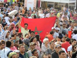Publico marroquí en el Zócalo
