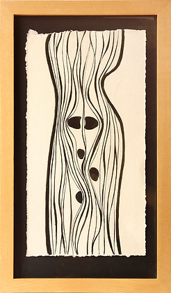 'Idir Meen agus Leimawaddera 2 {Small}', Oak Gall Ink on Paper