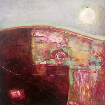 'Such Winters of Memory', Mixed Media on Board (framed)