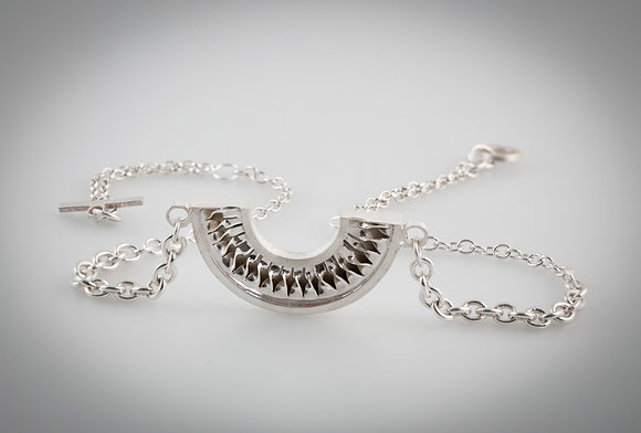 'Spiral Pendant with Chain', Sterling Silver