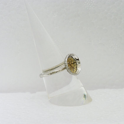 'Acorn Cup Ring', Sterling Silver with Gilded Inside