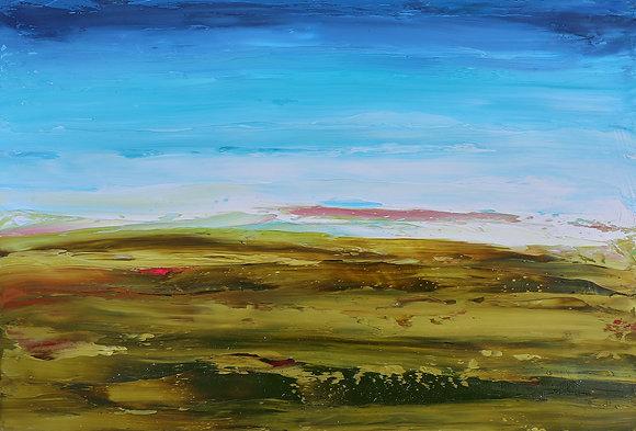 'Shoreline II', Oil on Board (framed)