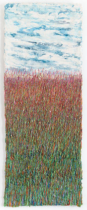 'Harvest Grasses II', Acrylic & Natural Fibre on Canvas Mounted on Aluminium