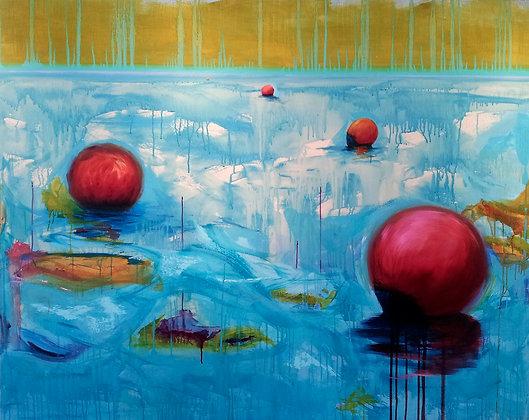 'Sea Garden', Oil on Canvas (unframed)
