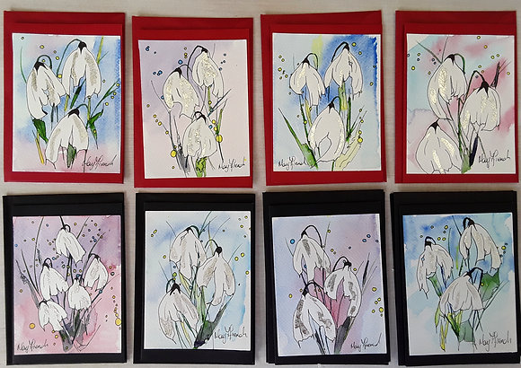 Handpainted Greeting Cards by Mary Ffrench