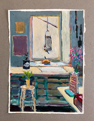 'In the Studio IV', Acrylic on Paper