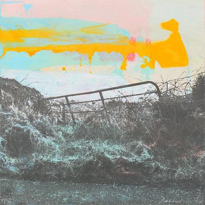 'West Cork Gate Evening', Mono Screen Print (unframed)