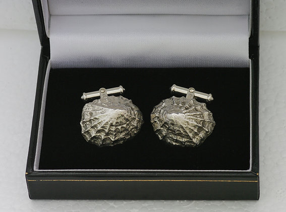 'Limpet Cufflinks', Sterling Silver