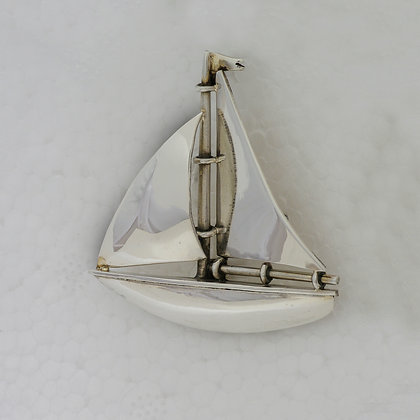 'Sailing Boat Brooch', Sterling Silver