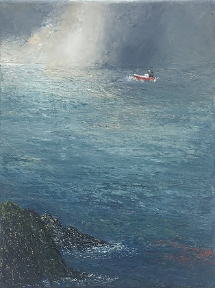 'To the Fishing Ground', Oil on Canvas