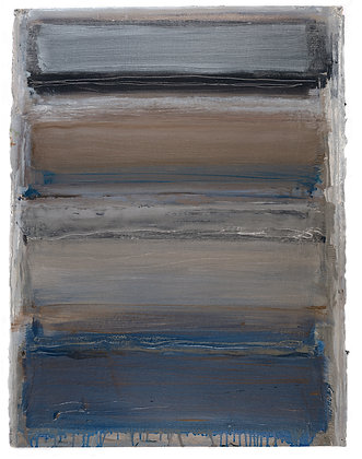 'Silver Adagio', Oil on Paper (framed)