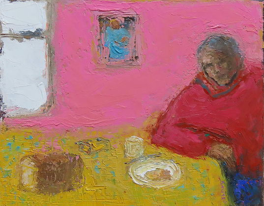 'The Painters Series - Shocking Pink', Oil on Canvas