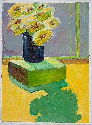 'Black Vase', Acrylic on Paper