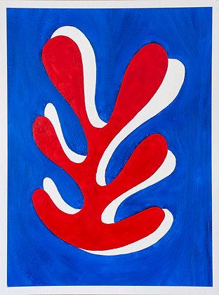 'Seaweed Appreciation III', Oil on Gesso Primed 450gsm Paper