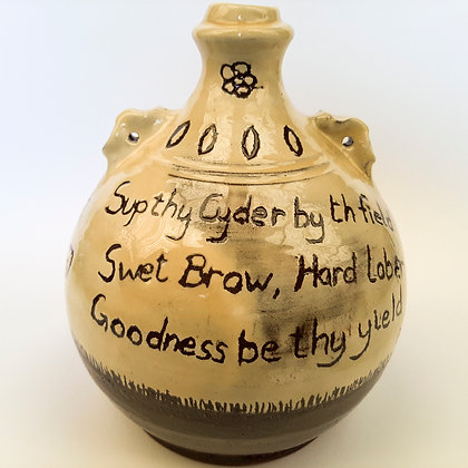 'Costrel 2 with Rhyme', Earthenware
