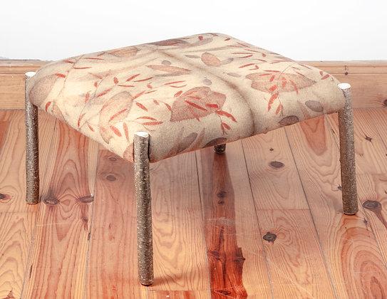 'Forest Floor Eco Print Rectangular Ottoman', Hazel and Eco Print Fabric