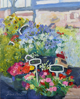 'Le Marche, Provencal, Antibes', Oil on Board