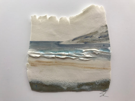'The Other Side', Porcelain Wall Piece on Board