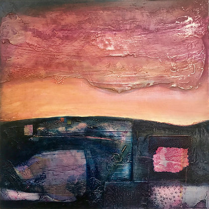 'This Earth', Mixed Media on Board (framed)