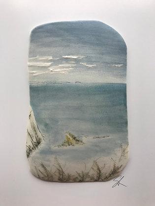 'Hazy Day', Porcelain Wall Piece on Board