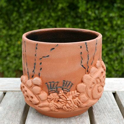 'Garden Views 4', Glazed Terracotta Vessel
