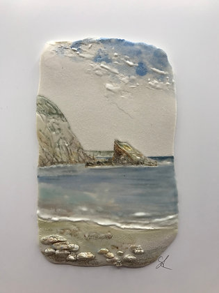 'Balmy Afternoon', Porcelain Wall Piece on Board