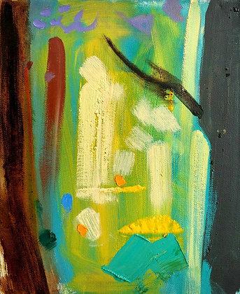 'Spring Woods', Oil on Canvas (framed)