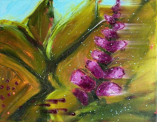 'Foxglove II', Oil on Canvas (unframed)