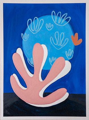 'Seaweed Appreciation II', Oil on Gesso Primed 450gsm Paper