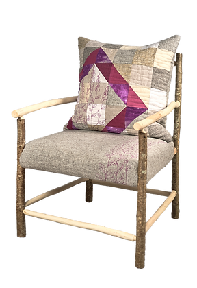 'Foxglove Armchair', Hazel with Wool Textile by Mary Palmer