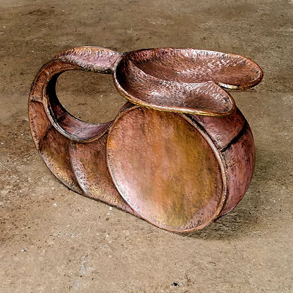 'Whale Rider' Seat, Copper & Bronze, Oil & Wax