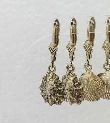 'Limpet Earrings', Sterling Silver