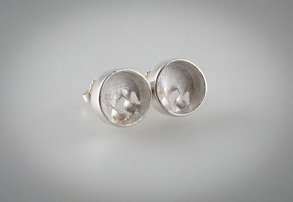 'Spiral Ear Studs', Sterling Silver