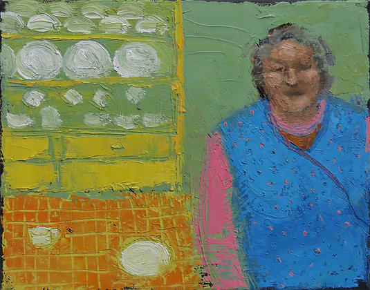 'The Painters Series - Green', Oil on Canvas