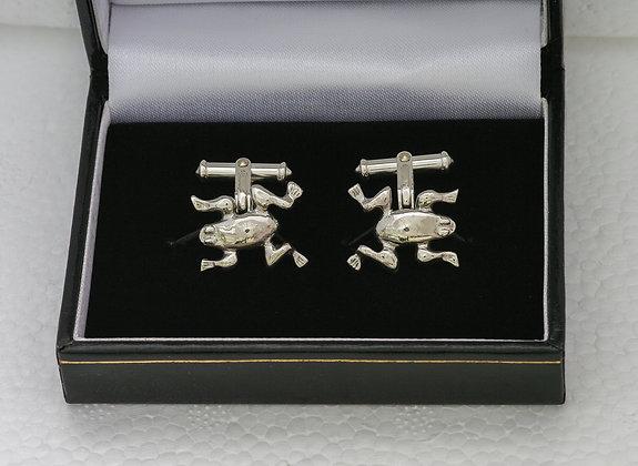 'Frog Cufflinks', Sterling Silver