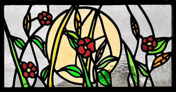 'The Window Box Wild Flowers', Stained Glass