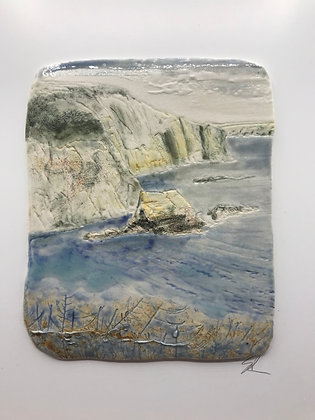 'Evening Time', Porcelain Wall Piece on Board