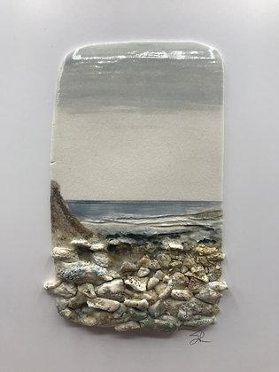'Low Tide', Porcelain Wall Piece on Board