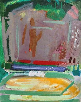 'Summer Garden Remembered', Oil on Canvas (framed)