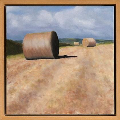 'Harvest - Galley Head', Acrylic on Canvas (framed)