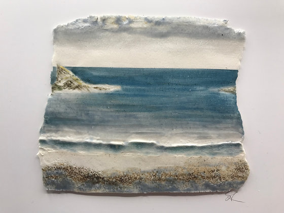 'Summer Afternoon', Porcelain Wall Piece on Board